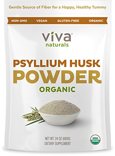 Viva Labs Organic Psyllium Husk Powder, 24 oz (Psyllium Husk For Baking compare prices)
