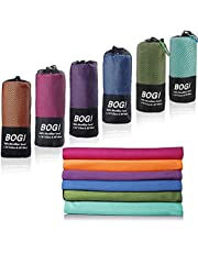 BOGI Microfiber Travel Sports Towel-Quick Dry Towel-(Size: S M L XL), Soft Lightweight Microfiber Camping Towel Absorbent Compact Travel Towel for Camping Gym Beach Bath Yoga Swimming Backpacking