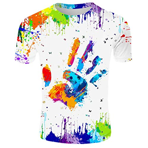 NIUQI Men's New Summer T-Shirt with Round Neck Short Sleeve Blue Flame 3D Printed Top (Superman Womens Under Armour)