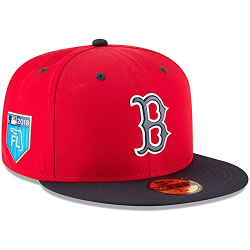 New Era Boston Red Sox Navy 2018 Spring Training Collection Prolight 59FIFTY Fitted Hat - Red (7 ()