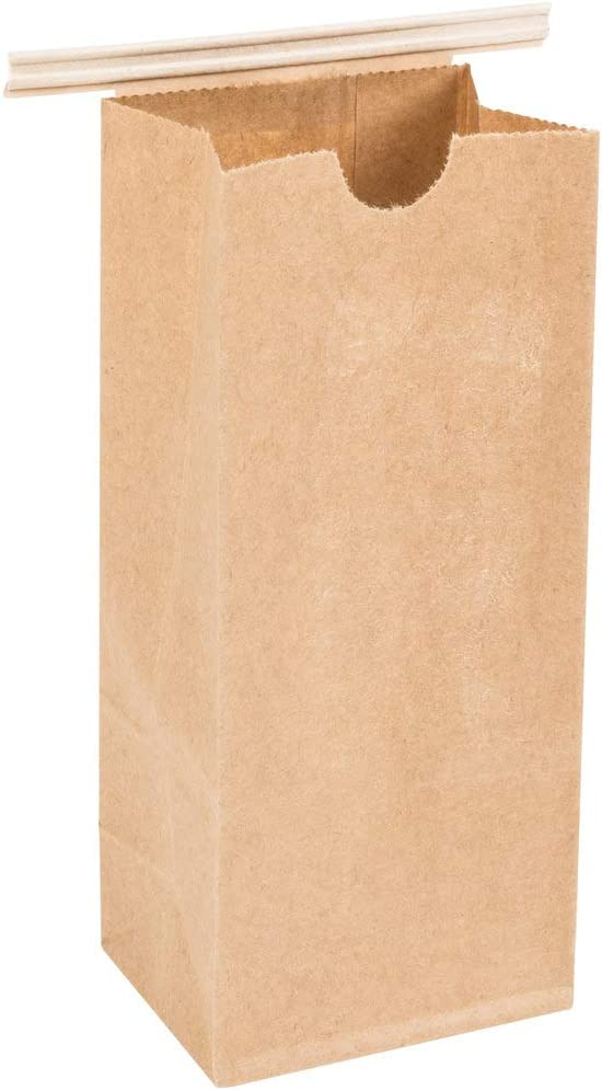Resealable Kraft Tin Tie Poly-Lined Bags Coffee Bags Reclosable Tin Tie Bags Without Window - 1Lb - 25 Pack