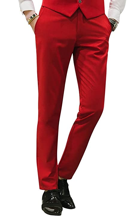 60s -70s  Men's Costumes : Hippie, Disco, Beatles MOGU Mens Slim Fit Front Flat Casual Pants $29.99 AT vintagedancer.com