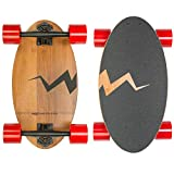 Eggboards Mini Longboard Cruiser Skateboard The Original. Small Bamboo Skateboards Ride Like Longboards. Complete Longboard for Adults and Kids. 19 inches Long Skate Board Deck in Wood.