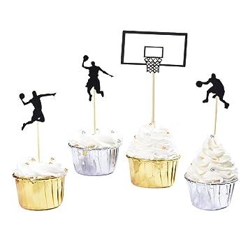 Decoración para cupcakes de baloncesto de HOKPA, decoración para ...