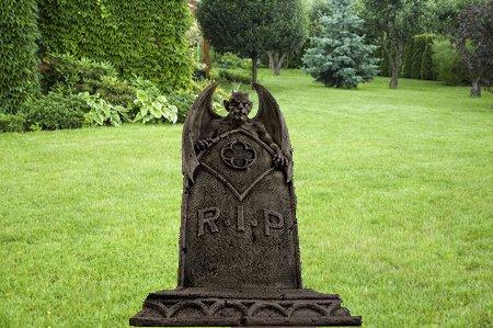 Gothic gargoyle statue Tombstone Halloween sculpture (Angel Tombstone)