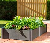 Watex Urban Farming WX036 Double Raised Garden Bed Kit,Micro Irrigation kit included, 2-Bed, Grey