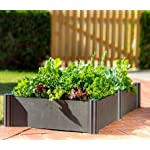 """Watex WX035 24 by 24"""" Raised Garden Bed Kit,Micro Irrigation kit Included 4 Dimension: 24 x 24 x 6 inches / unit DIY friendly, tool free Modular design"""