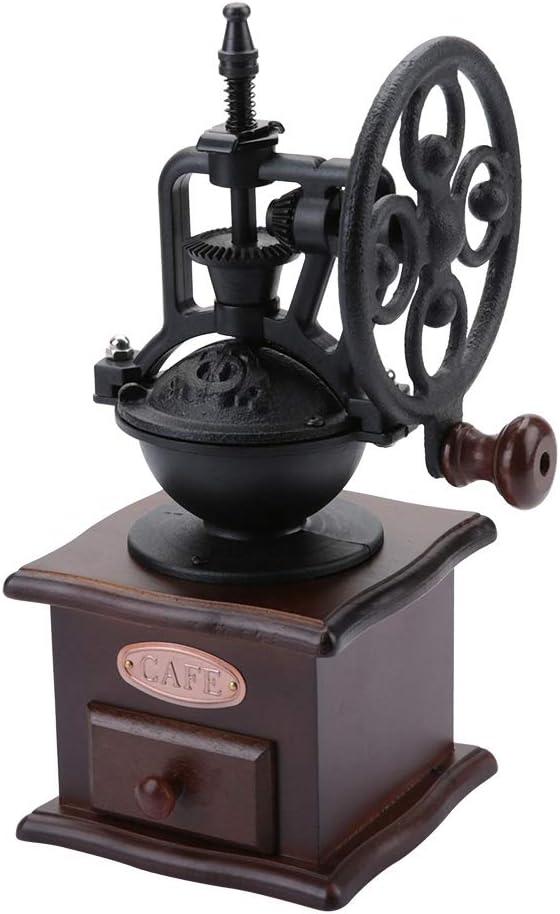 3 x 100 g de grains de caf/é entiers une brosse et une cuill/ère /à haricots Kit de moulin /à caf/é manuel Moulin /à broyer conique en c/éramique r/églable Comprend une bo/îte /à caf/é