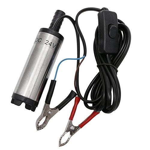 Kocome 24V DC Stainless Steel Submersible Diesel Fuel Water Oil Pump 12L Per Minute (Bottle Jack O Rings)
