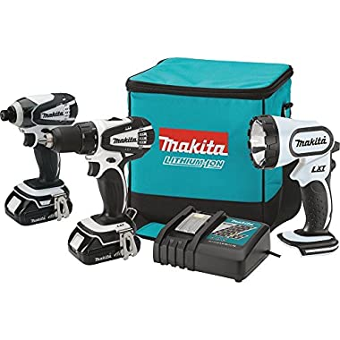 Makita CT300RW 18V Compact Lithium-Ion Cordless Combo Kit, 3-Piece
