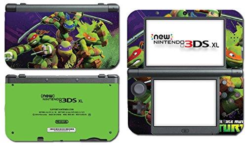 Nintendo Ds Vinyl Skin - Teenage Mutant Ninja Turtles TMNT Leonardo Leo Michaelangelo Donatello April Cartoon Movie Video Game Vinyl Decal Skin Sticker Cover for the New Nintendo 3DS XL System Console