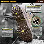 Ansbowey Bottes Hommes Chaussures de Randonnée Femmes Tactiques Militaire Combat Boots Exterieur antidérapantes Bottines… 10