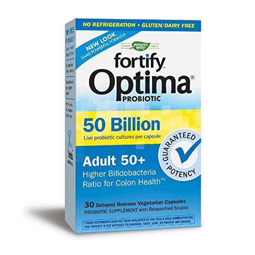 (Nature's Way Primadophilus Optima Adult 50+ 50 Billion Vcap, 30 Count )