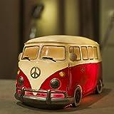 Amazlab VW Volkswagen T1 Camper Van Table Lamp with Timer - Red (Blue/Pink/Orange)