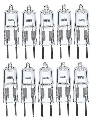 10Pack, 35 Watt 35W 12V 12 Volt G6.35 Bi-Pin JC Type Halogen Light Bulb GY6.35 - 35w Halogen Bulb
