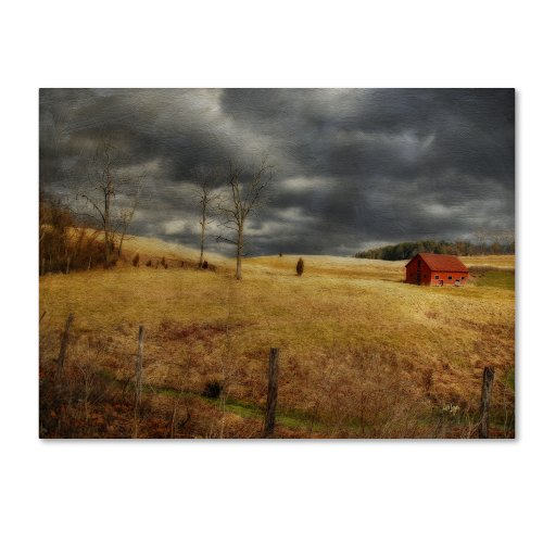 picture of Trademark Fine Art Winter Begins Canvas Wall Art by Lois Bryan, 22 by 32-Inch