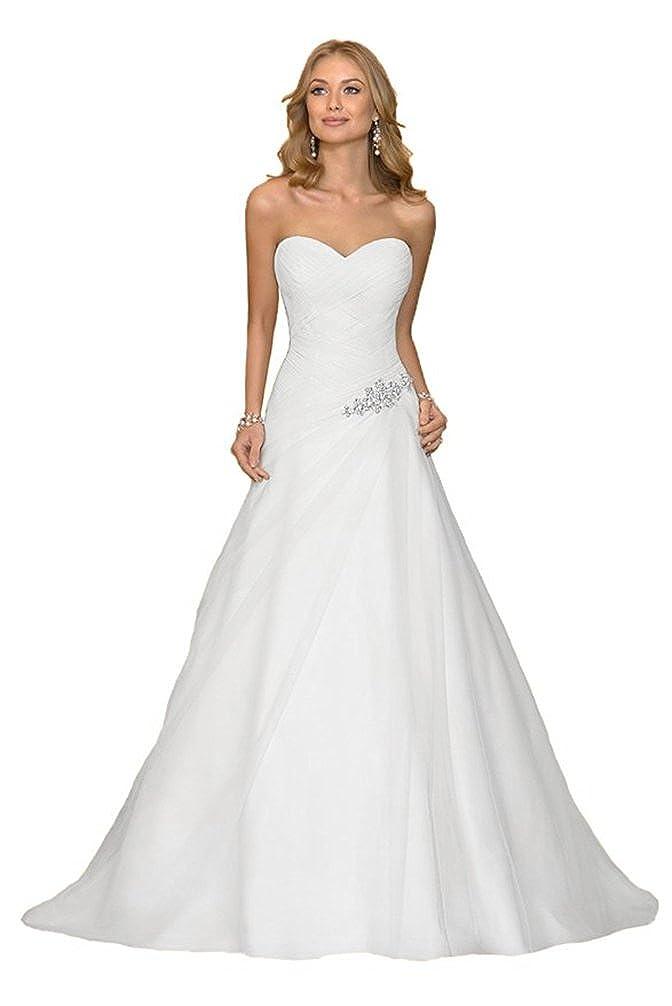 Luokadress Sweetheart Chiffon Pleated Beach Bridal Wedding Dresses Long for Women L027