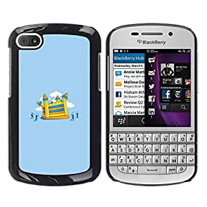 Be Good Phone Accessory // Dura Cáscara cubierta Protectora Caso Carcasa Funda de Protección para BlackBerry Q10 // Painting Children Playground