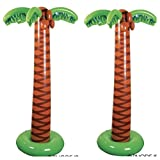 JUMBO Inflatable PALM TREES - LUAU Party DECOR (66'' Tall) TROPICAL Decorations - ISLAND Theme PARTIES