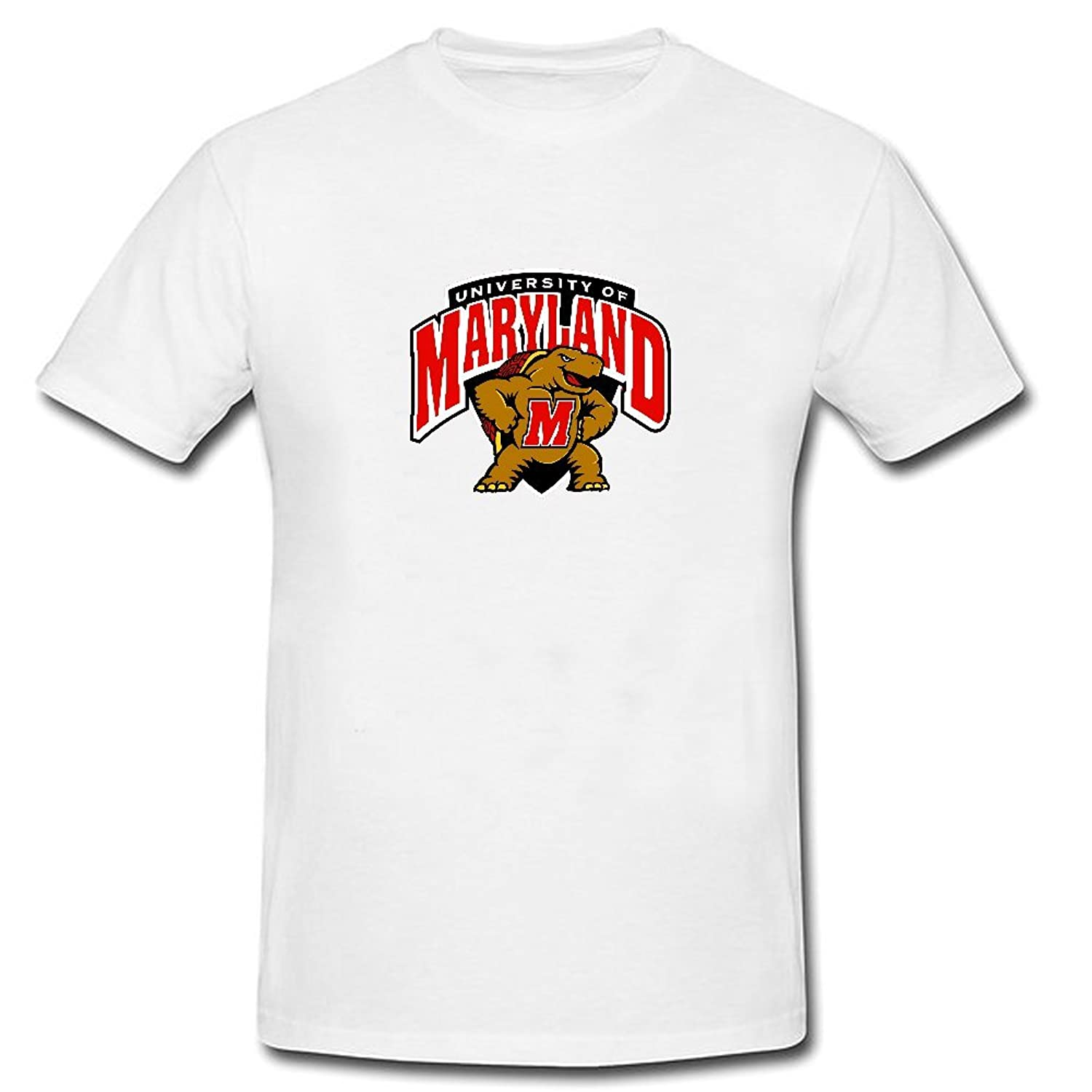 Onic Maryland Terrapins College Football Logo Summer Short Sleeve T Shirts White