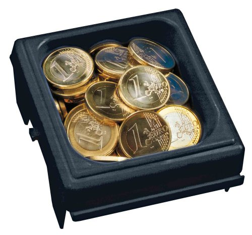 - Comsafe T03111 Euro-Organisation Cash Money Counter Tray, Black [Euro Currency]