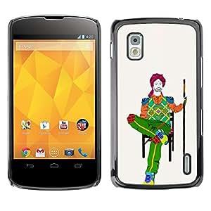 Be Good Phone Accessory // Dura Cáscara cubierta Protectora Caso Carcasa Funda de Protección para LG Google Nexus 4 E960 // poket on chair