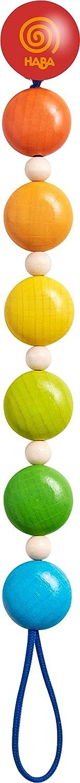 HABA 304704 Schnullerkette Farbenspiel Schnullerkette aus Holz in Regenbogenfarben; Baby-Spielzeug ab 0 Monaten