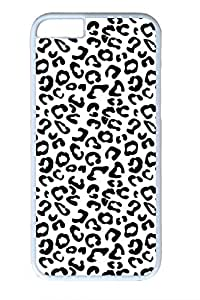 Black And White Leopard Cover Case Skin for iPhone 6 4.7 Inch Hard PC White