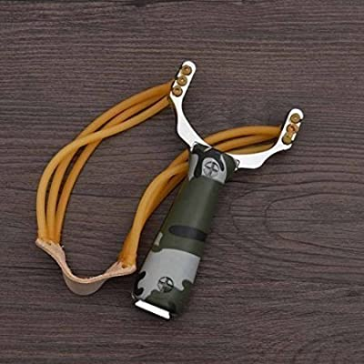 Lautechco® Powerful Slingshot Sling Shot Aluminium Alloy Bow Catapult Outdoor Game Hunting Camouflage Slingshot Hunt Tool Accessories