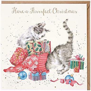Wrendale Designs Grau Ilustriert Katze Behandeln Dose Liebhaber Geschenkidee