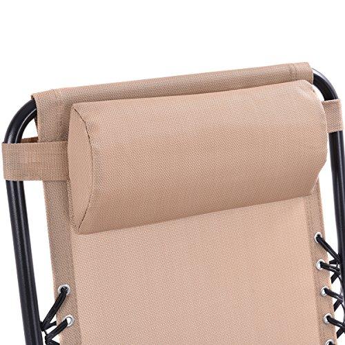 Goplus Folding Zero Gravity Reclining Lounge Chairs