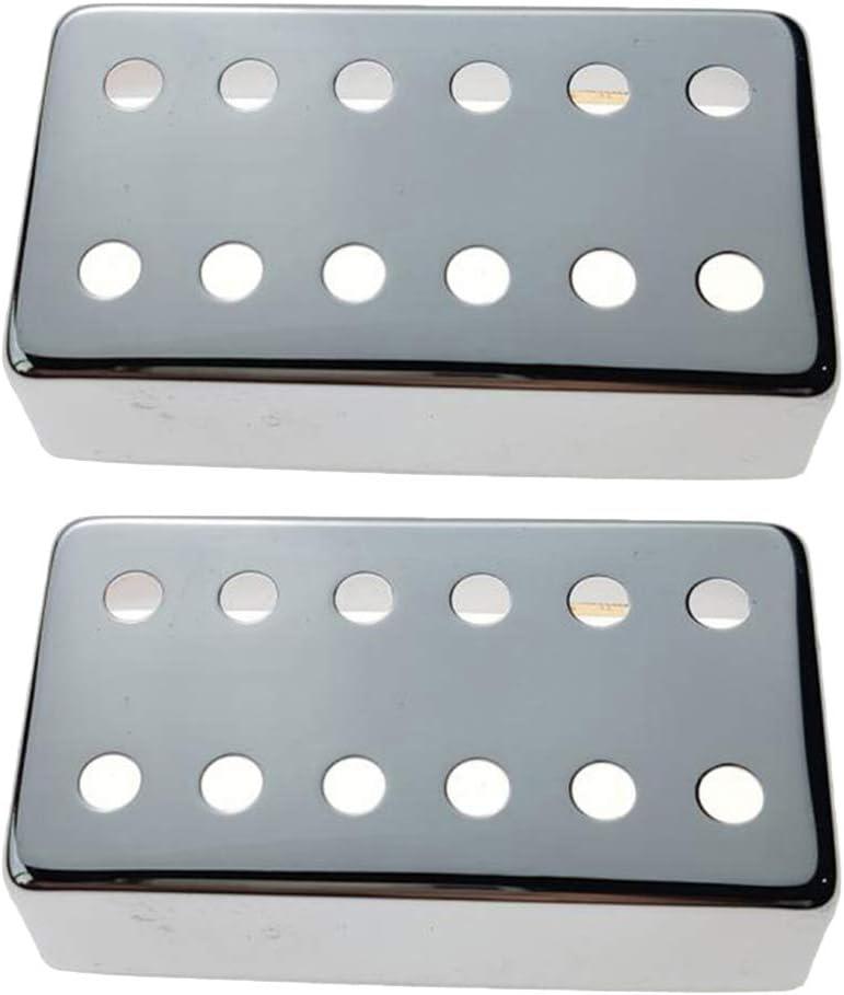 kesoto 2x Couverture Cache de Humbucker Pickup Cover 12 Trous,Capot de Micros pour Guitare Electrique 68x29x20mm