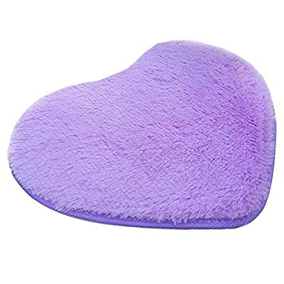 Absorbent Memory Foam Bathroom Room Floor Shower Heart Mat Rug Carpets 30X40CM