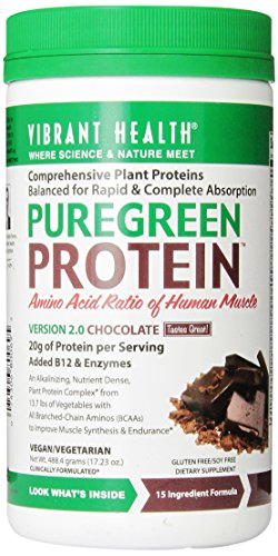 Vibrant Health puregreen Protein Chocolate 17,23 Onces