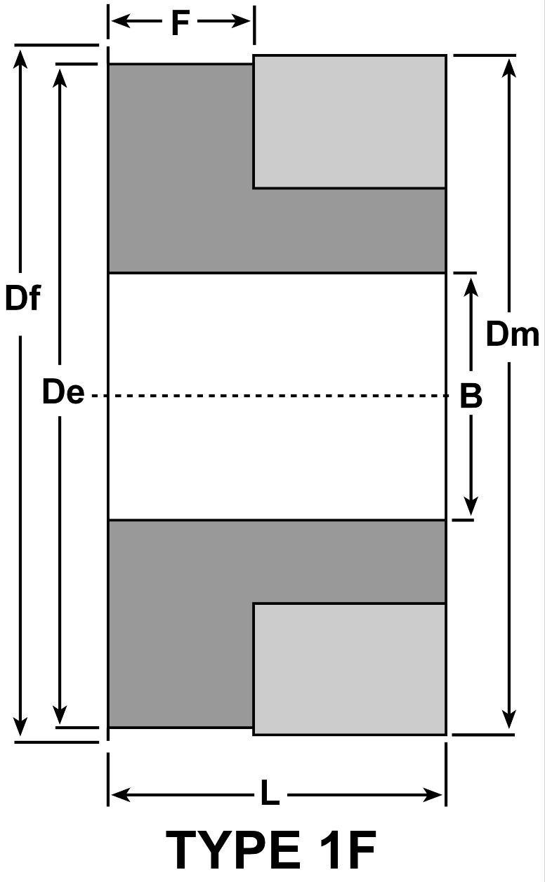 D/&D DD3M-26-X15-6F-A HTD Aluminum Timing Pulley 26 Teeth