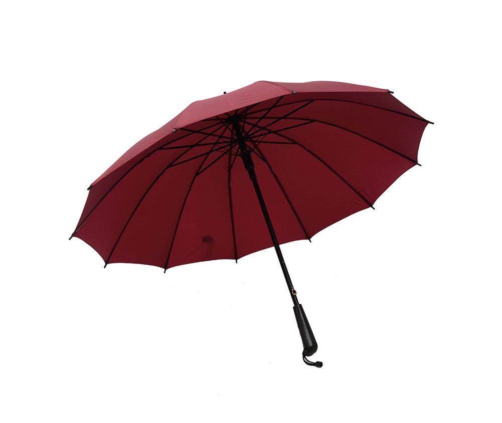 Zrf Parapluies automatiques, Coupe-Vent renforcent la Grande Double Pluie Vintage de Windproof (Couleur : Brown)