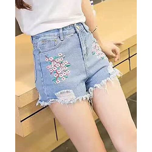 8d93431f26 80%OFF Cintura Alta Pantalones Cortos Shorts De Mezclilla Jeans Shorts Mujer