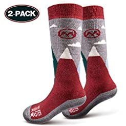 OutdoorMaster Kids Ski Socks - Merino Wo...