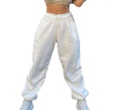 Hibasing Invierno Mujer Pantalones de chándal de Lana Casual ...