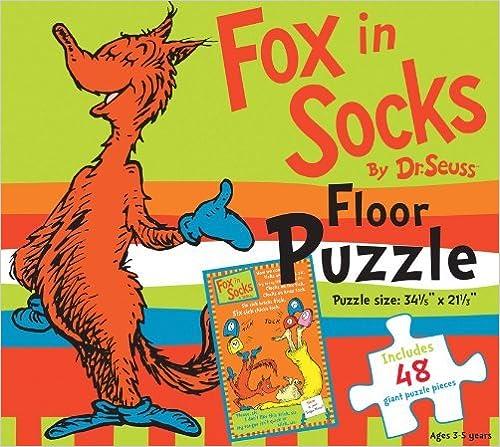 Fox in Socks by Dr. Seuss Floor Puzzle  Includes 48 giant puzzle pieces (Dr. Seuss Giant Puzzle Boxes) by Dr. Seuss Enterprises (2013-01-01)
