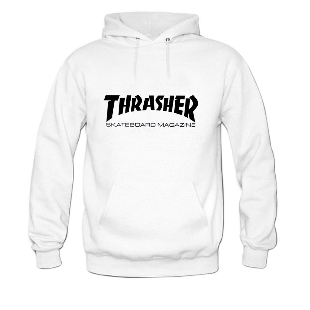 d3d2214f8 Amazon.com: Womens Thrasher Hoody Sweatshirt XXL White: Clothing