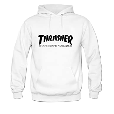 Amazon.com  Womens Thrasher Hoody Sweatshirt XXL White  Clothing 39e88d1d24