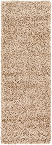 Unique Loom Solo Solid Shag Collection Modern Plush Taupe Runner Rug (2' 2 x 6' ()