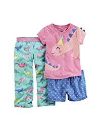 Carter's Girls' 3-Piece Pajamas