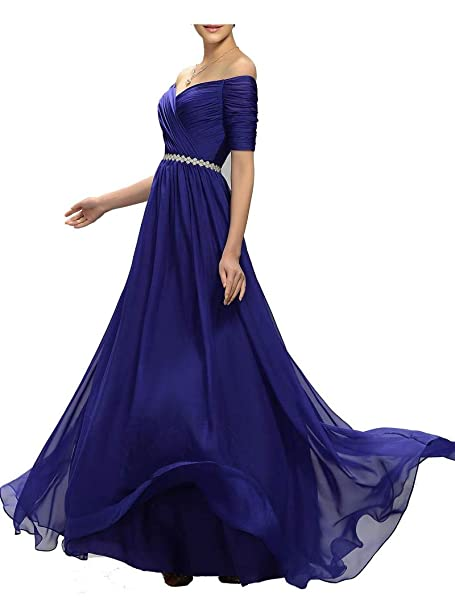 69d5c8922f6 Lily Wedding Womens Beaded Off Shoulder Prom Bridesmaid Dress 2019 Long  Aline Evening Formal Gown TB32 at Amazon Women s Clothing store
