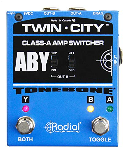 Guitar Pedal Switcher Amp (Radial Bones Twin City ABY Amp Switcher)