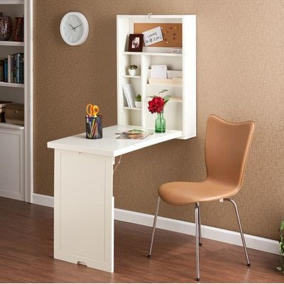 Rectangular Wall-Mounted Floating Desk 32'' H x 22'' W x 6''