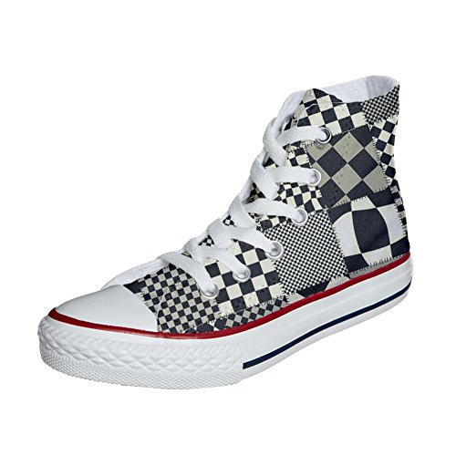 producto Texture Customized Unisex Star Pachtwork Zapatos Converse All Personalizadas UBpaaX