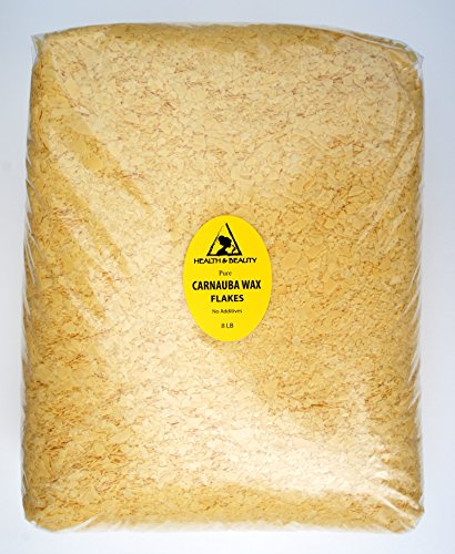 Carnauba Wax Organic Flakes Brazil Pastilles Beards Premium Prime Grade A 100% Pure 8 LB by H&B Oils Center Co.
