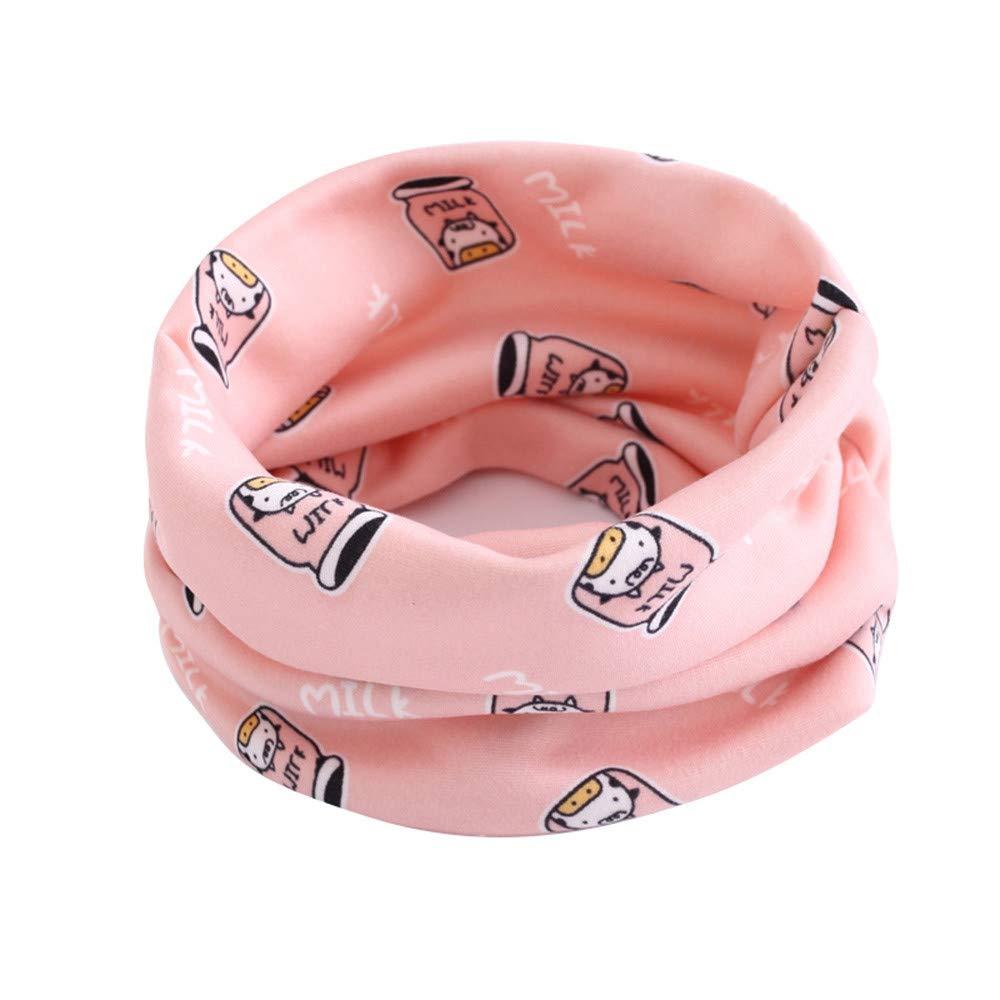 Infant Baby Warmer Cotton Neckerchief Skin-Friendly Infinity Loop Scarves Cute Collar Neck Scarfs Kids Girls Boys Multi Use Circle Scarves Shawl O-ring Tube Snood Bandana